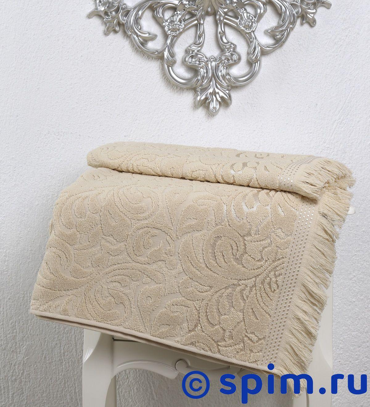 Полотенце Karna Esra 70х140 см, бежевое комплект махровых полотенец karna esra 50x90 70х140 см 1158865