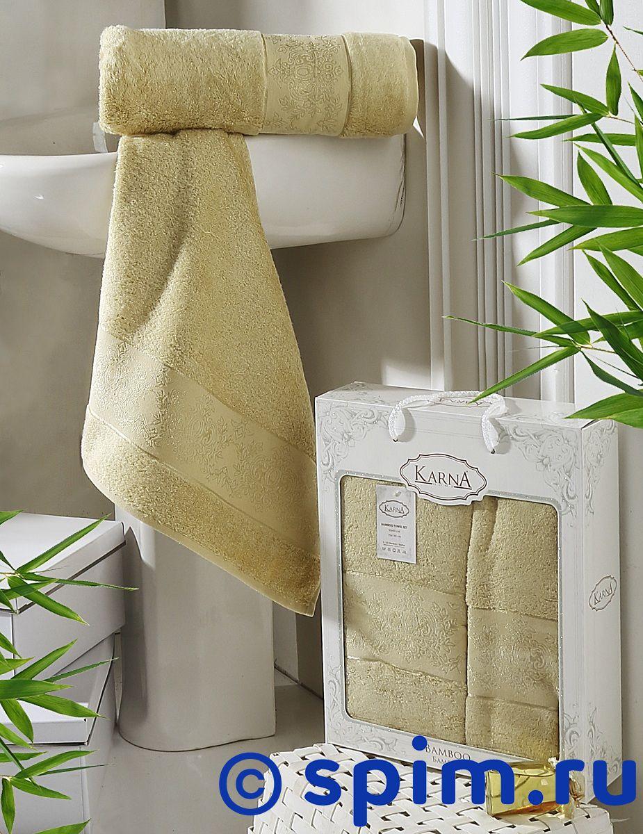 Комплект полотенец Karna Pandora, золотистый