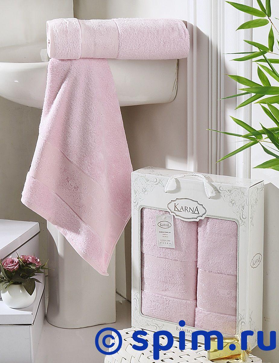 Купить Комплект Полотенец Karna Pandora, Светло-Розовый