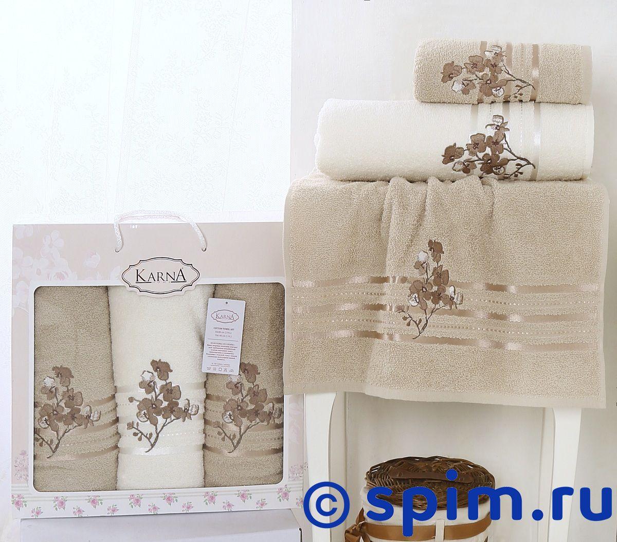 Комплект полотенец Karna Papilon, бежевый арт. 2354/char001