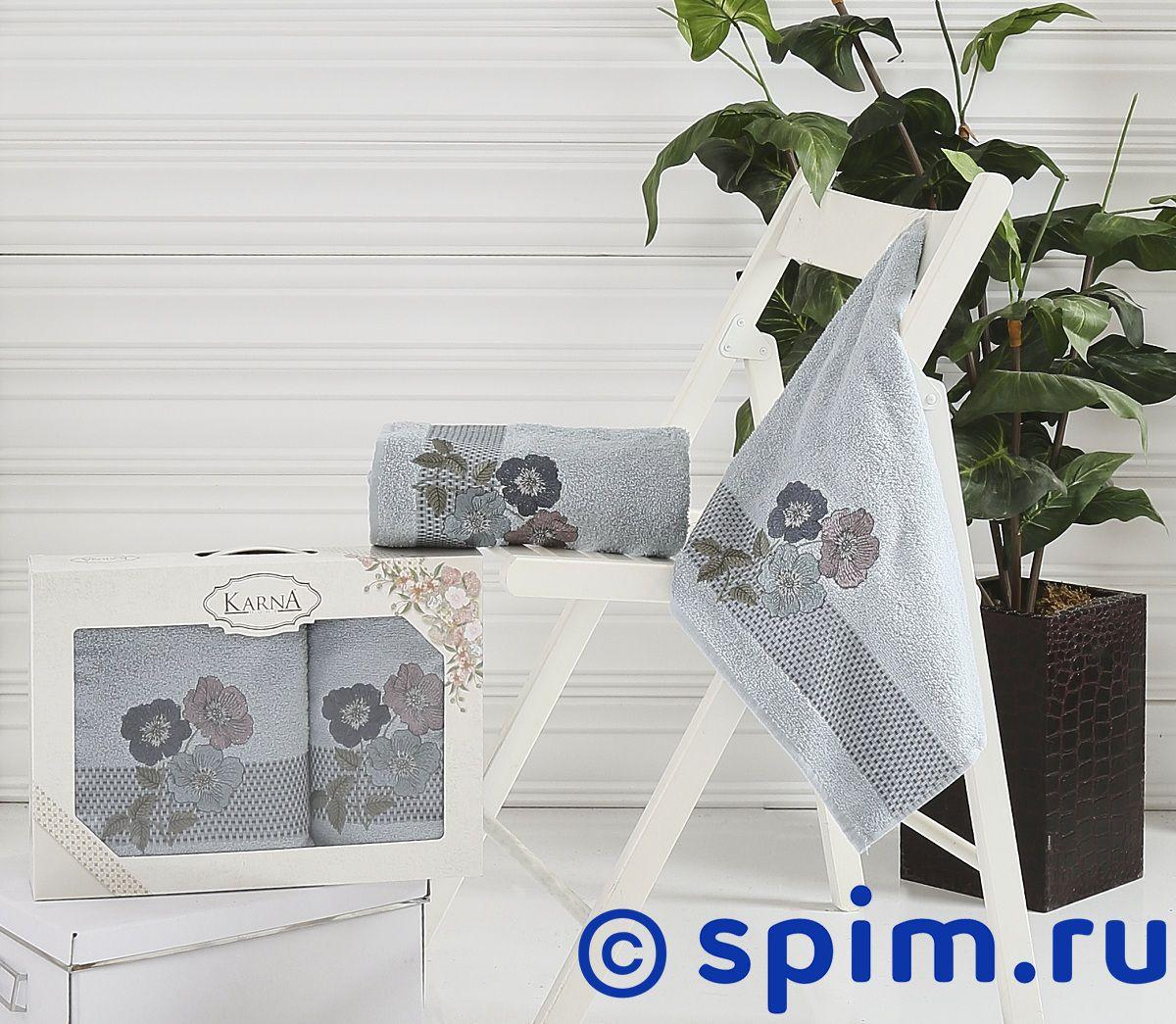 Комплект полотенец Karna Sandy, стоне арт. 2390/char005 покрывало karna rose с вышивкой стоне 160х220 см