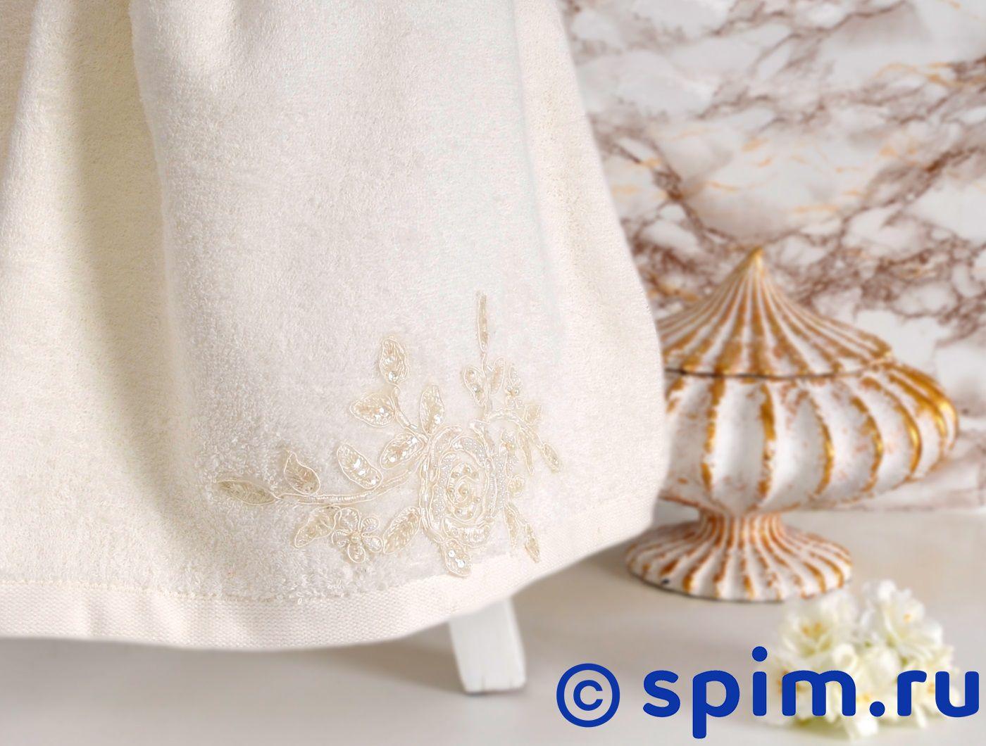 Полотенце Irya Potency 70х140 см с гипюром, молочное
