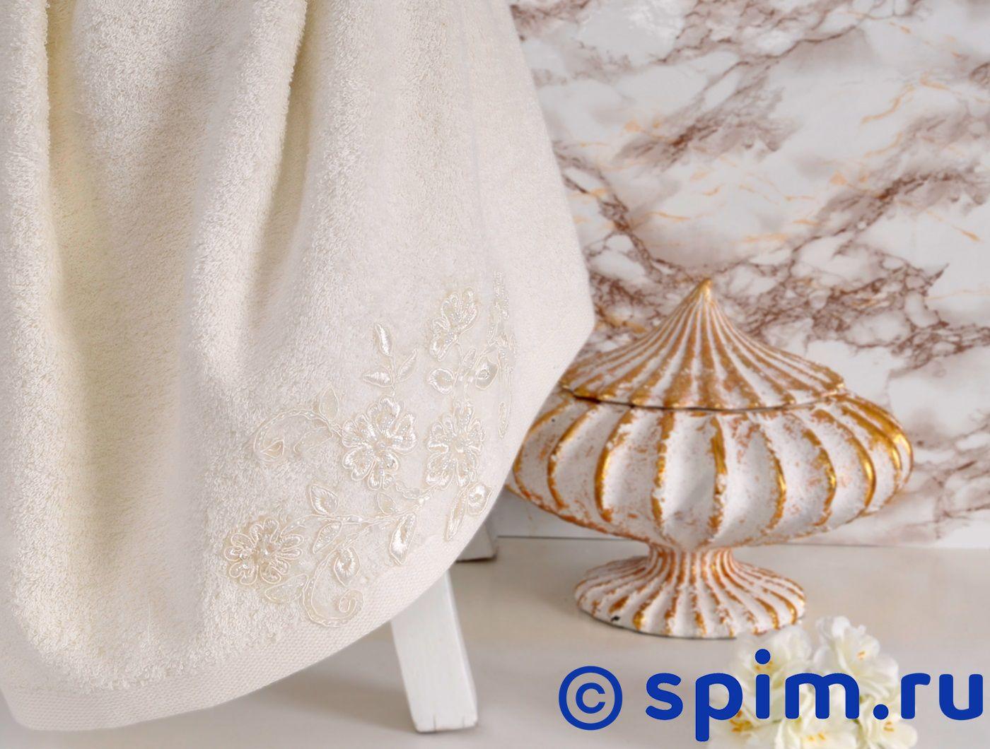 Полотенце Irya Sweet 85х150 см с гипюром, молочное