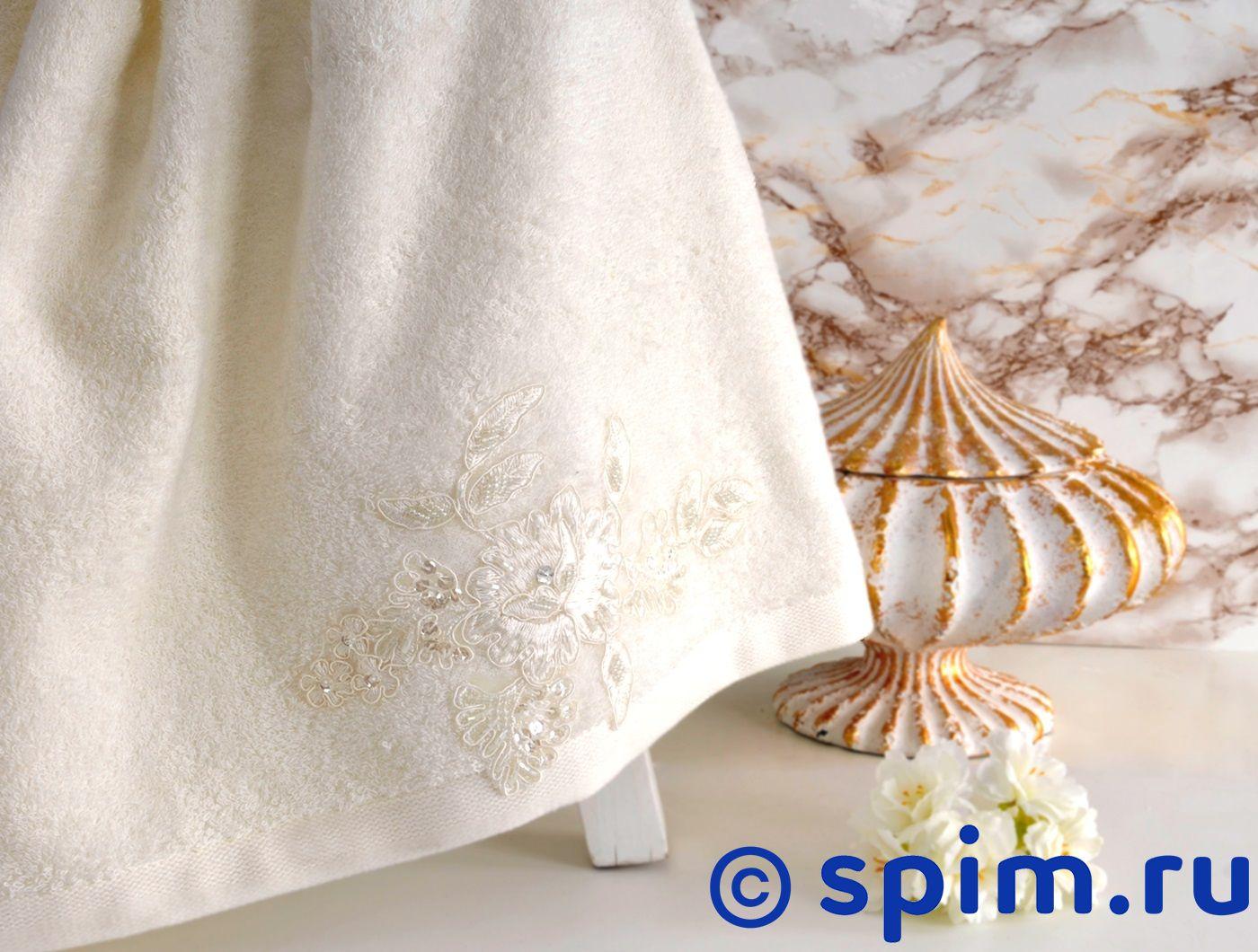 Полотенце Irya Show 85х150 см с гипюром, молочное