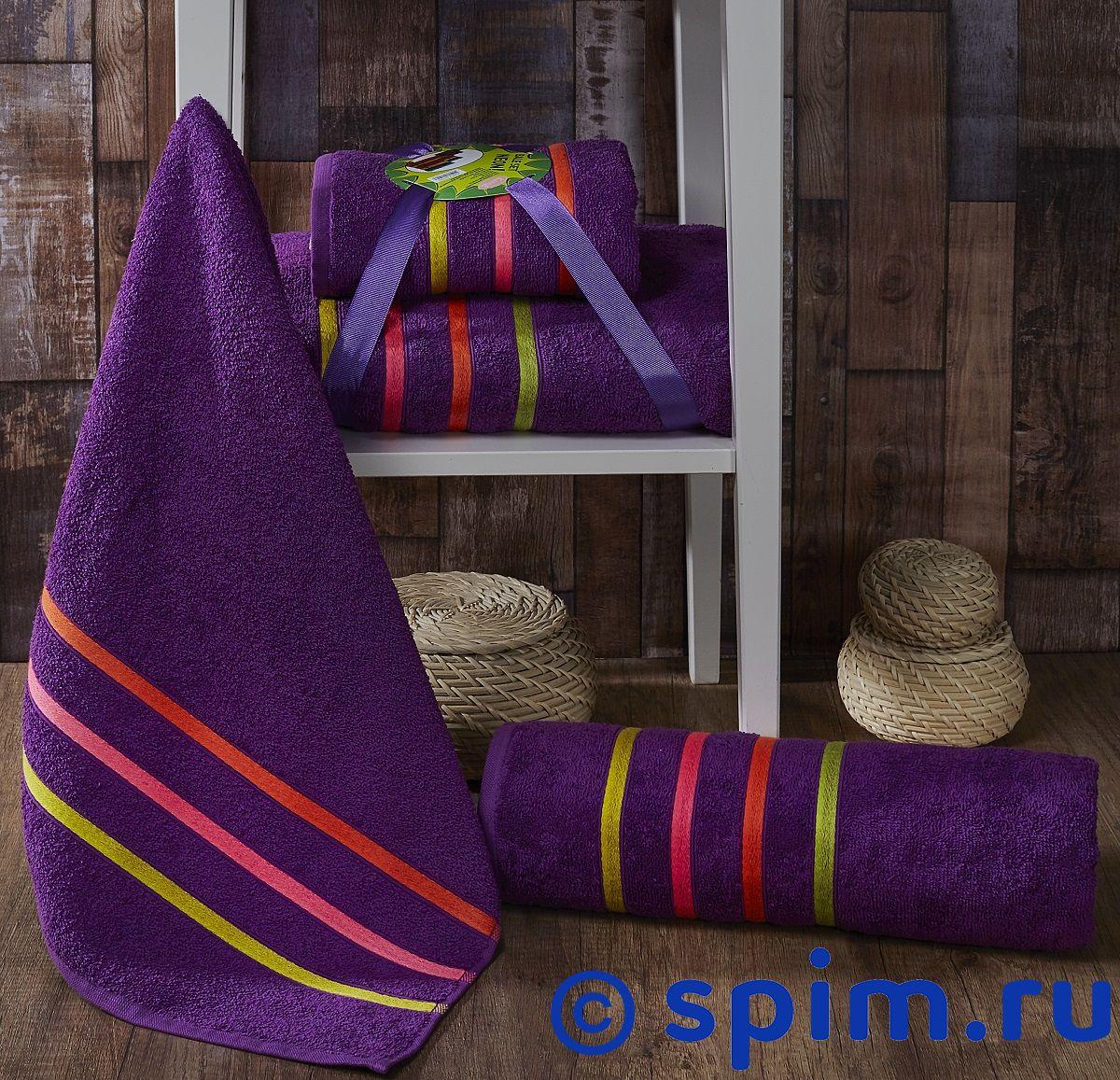 Комплект полотенец Karna Bale Neon, фиолетовый арт. 967/char002 комплект полотенец karna victory бордовый арт 2386 char002