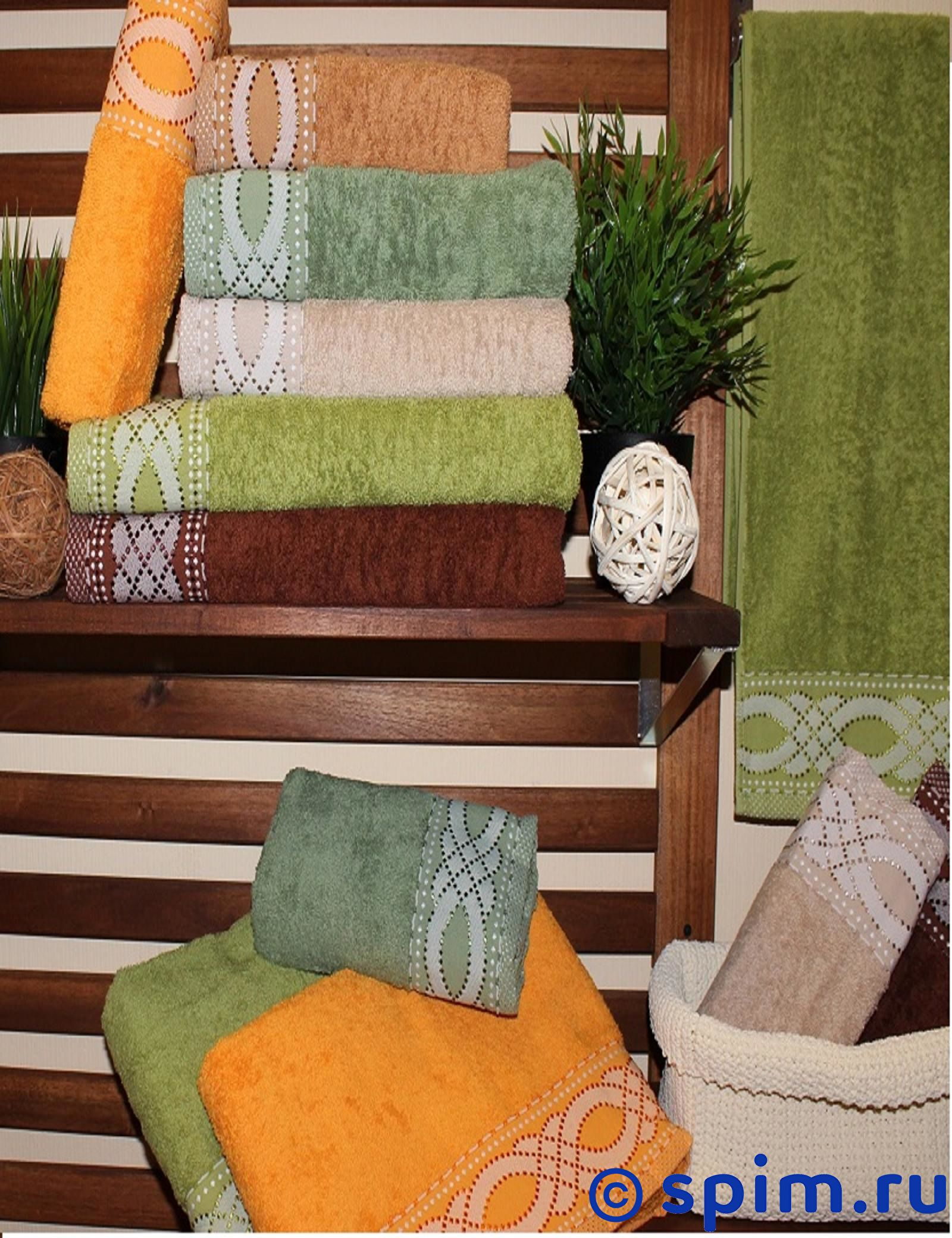 Набор из 6-ти полотенец Rose Точка 50х90 см 50х90 см сирень classik б 50х90 70х130 в коробке набор полотенец фиеста