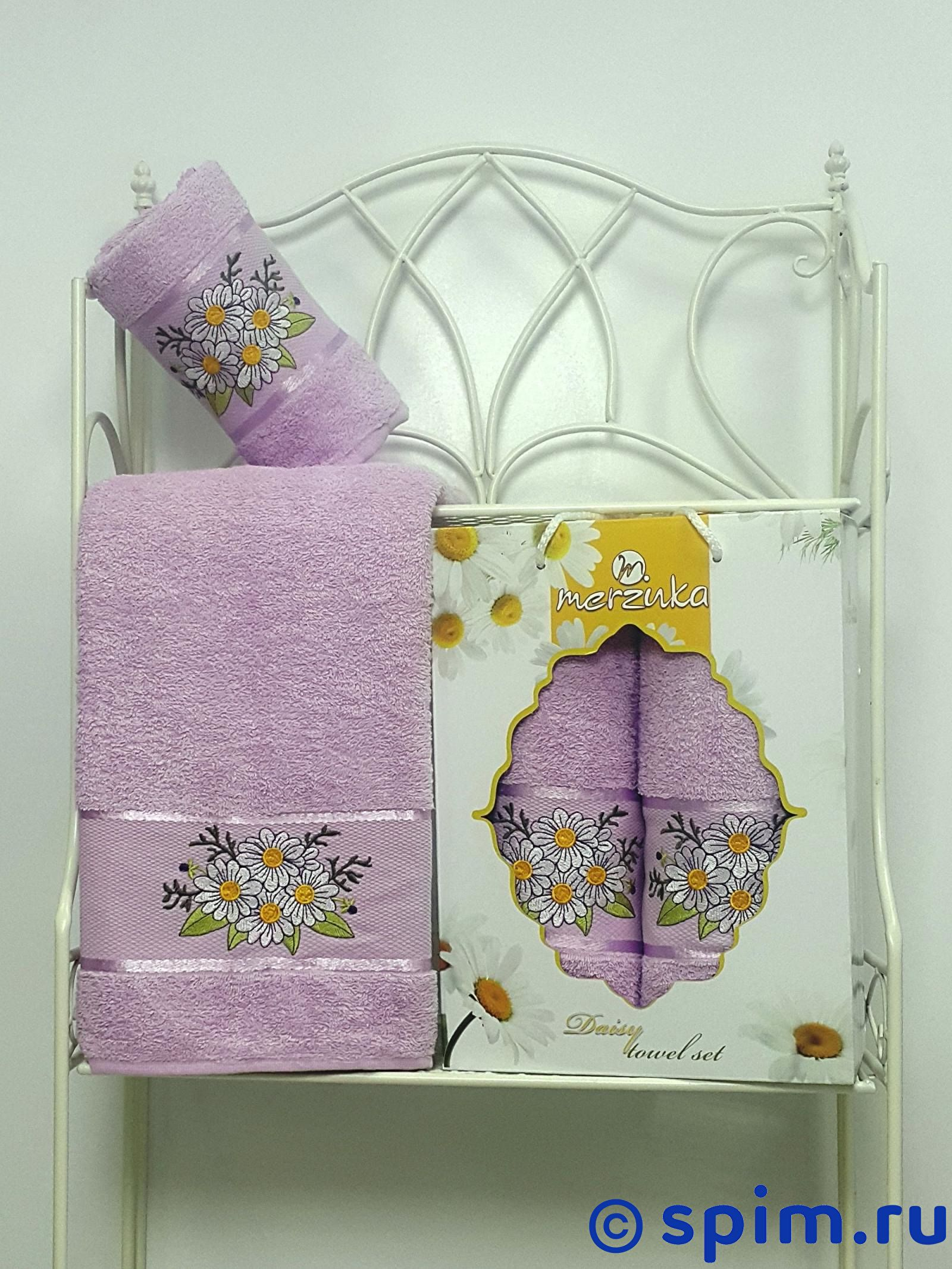 Комплект из 2-х полотенец Merzuka Daisy 8977 бежевый daisy махра 50х90 70х130 в коробке набор полотенец merzuka
