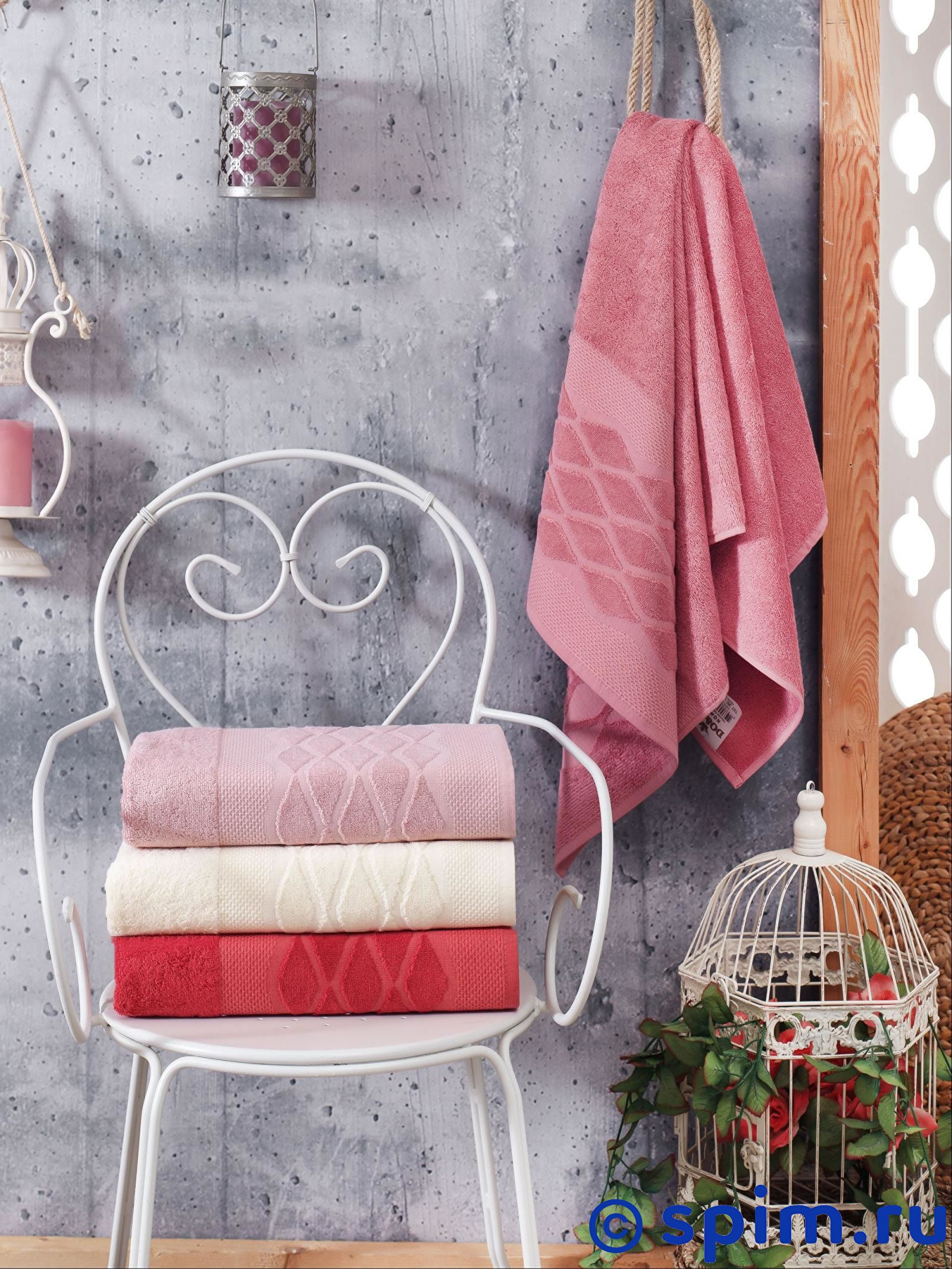 Набор из 4-х полотенец Do&co Victori 50х90 см полотенца do n co полотенце lady цвет мятный набор