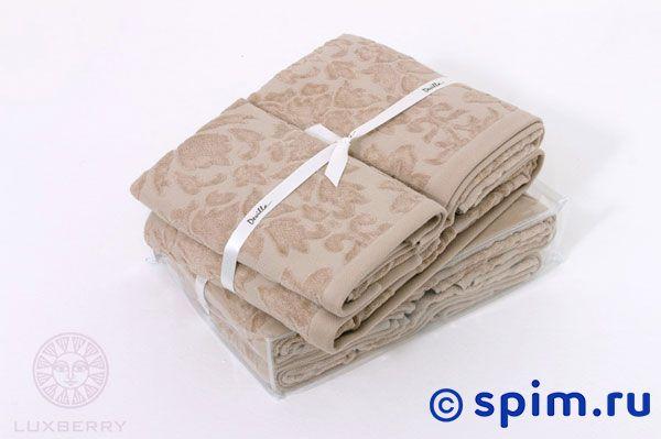 где купить Набор полотенец Luxberry Maura махра-жаккард, кофе с молоком по лучшей цене