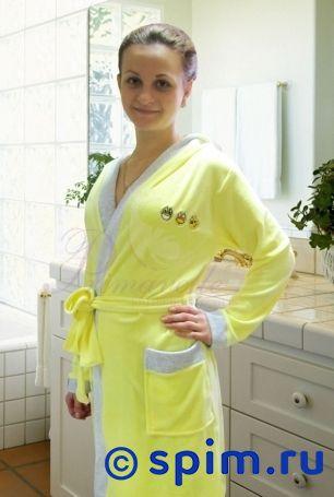 Халат Primavelle Smile с капюшоном, светло-лимонный