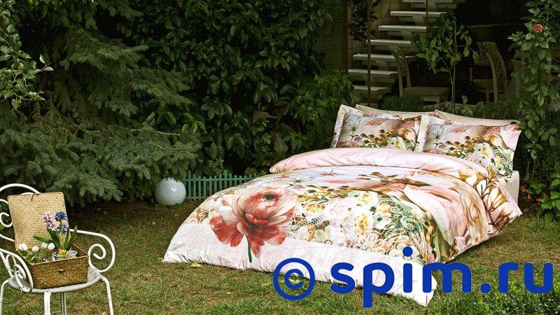 Комплект Tivolyo Delux Etude Евро-стандарт шелковое постельное белье tivolyo versai rossa euro standart