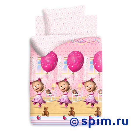 Постельное белье Маша и медведь,  День рождения