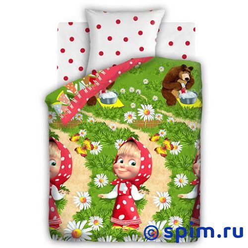 Детское постельное белье Маша и медведь, Большая стирка