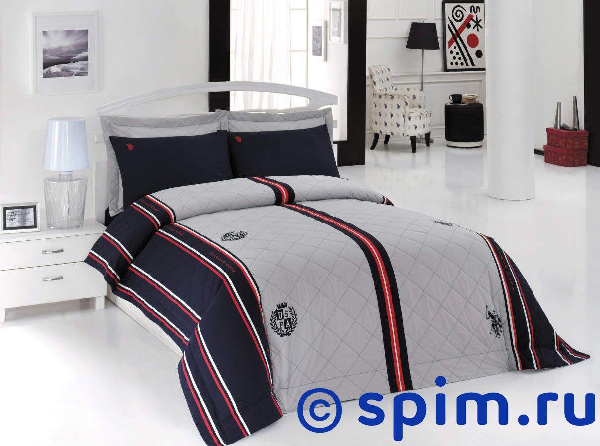 Постельное белье US Polo Bernvile с покрывалом 1.5 спальное набор с покрывалом пике travel time