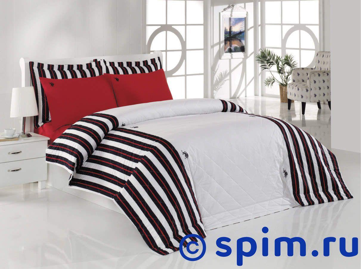 Постельное белье US Polo Burlington с покрывалом 1.5 спальное набор с покрывалом пике travel time