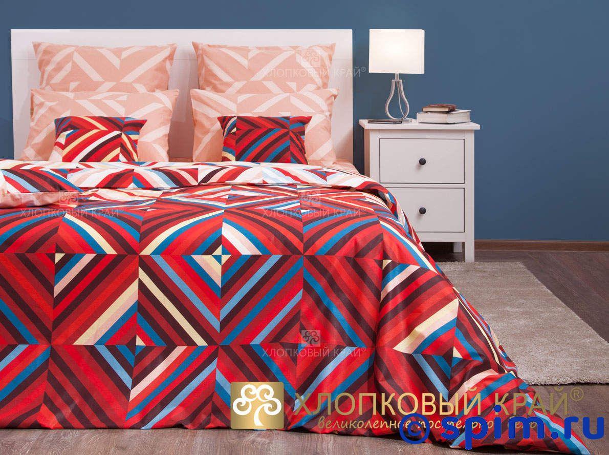 Постельное белье Хлопковый край Брайтон, красный 1.5 спальное
