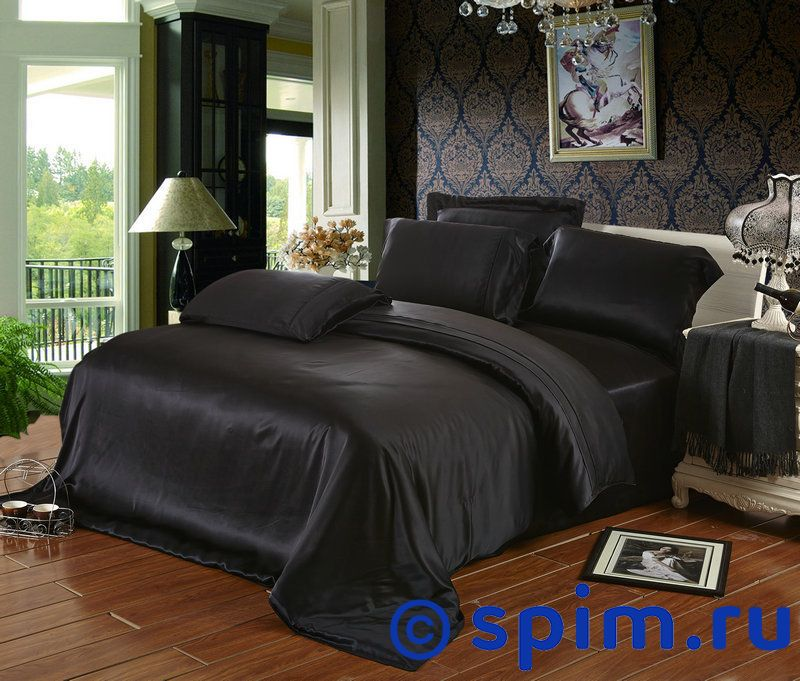 Постельное белье Luxe Dream Черный Евро-стандарт