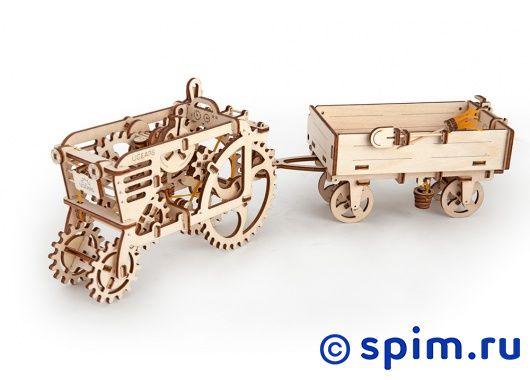Конструктор 3D-Пазл Ugears Прицеп к трактору игровые наборы tomy britains big farm фермерский прицеп со свинками