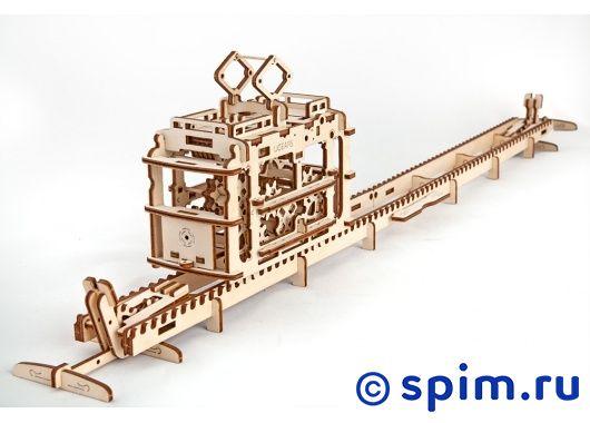 Конструктор 3D-Пазл Ugears Трамвай с рельсами