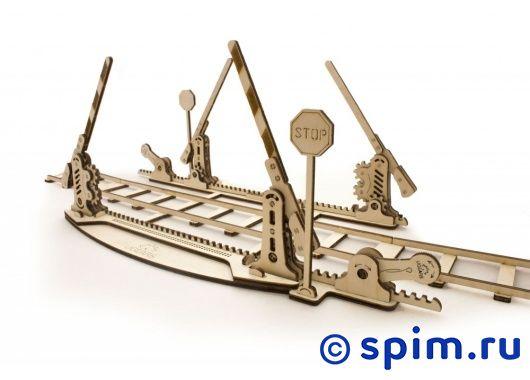 Конструктор 3D-Пазл Ugears Рельсы и переезд конструктор железнодорожный вокзал