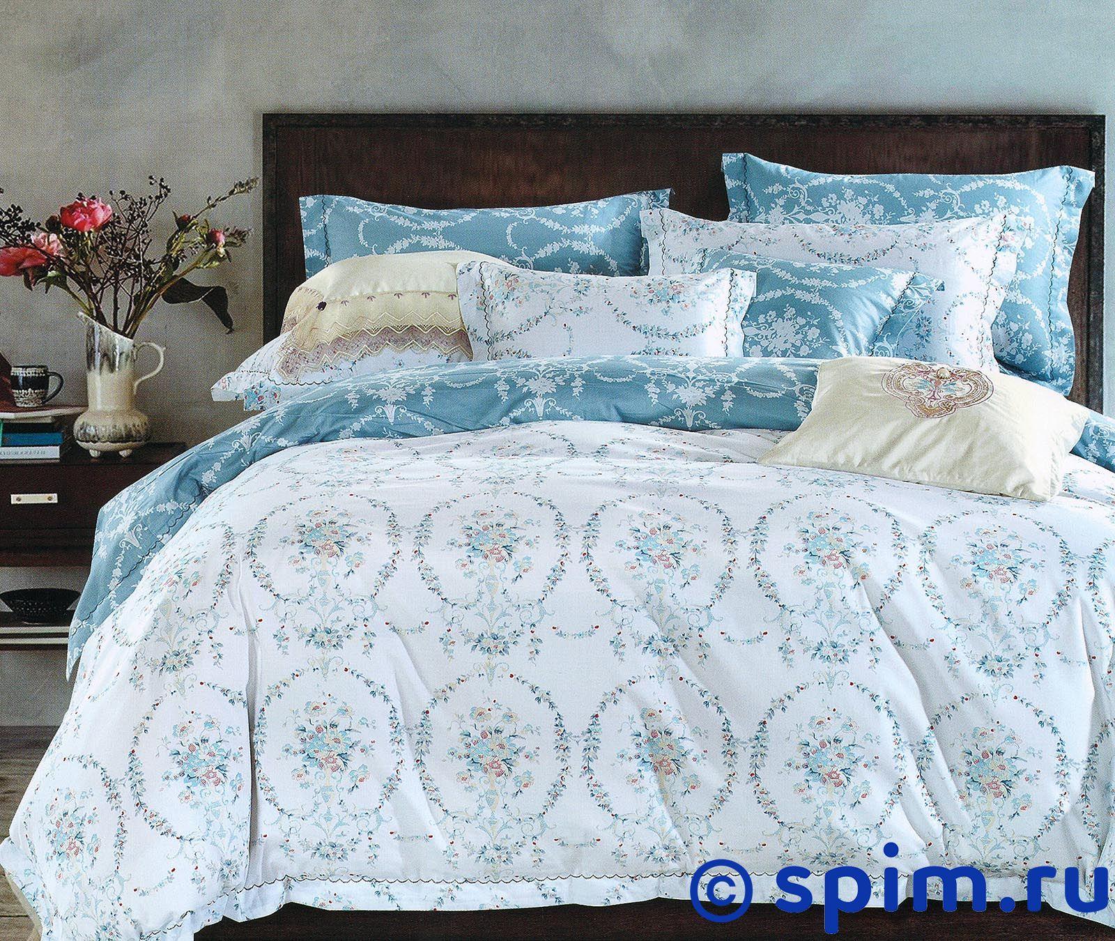 Постельное белье Sofi De Marko Флор, голубой Семейное постельное белье sofi de marko давинчи семейное