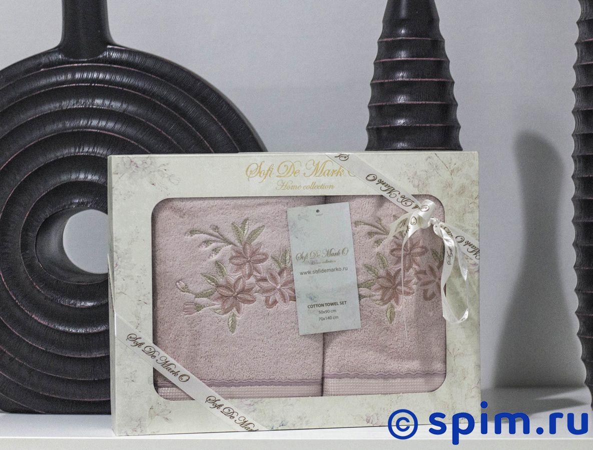 Набор из 2-х полотенец Sofi De Marko Nuans, пудра полотенца банные sofi de marko полотенце sirena v2 30х50 1х2 салф махровая