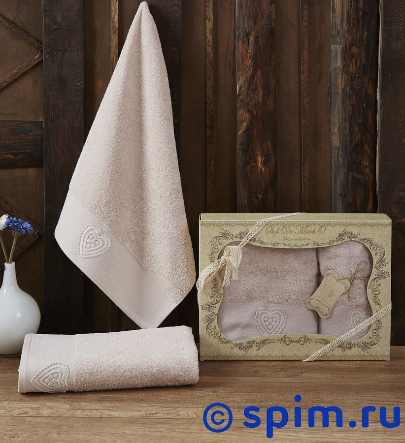 Набор из 2-х полотенец Sofi De Marko Amanda, пудра полотенце детское арти м набор из 2 полотенец для ванной 820 0