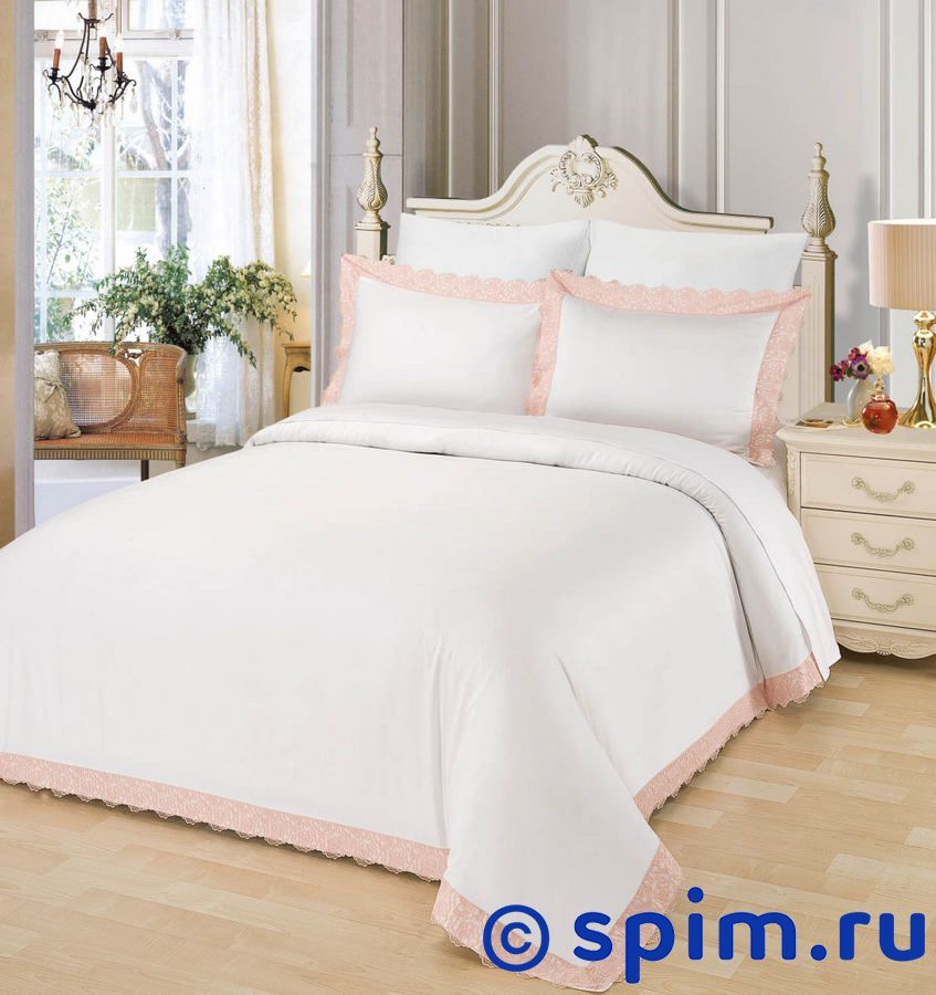 Постельное белье Sofi De Marko Маианна, пудра Евро-стандарт постельное белье sofi de marko патриция пудра евро стандарт