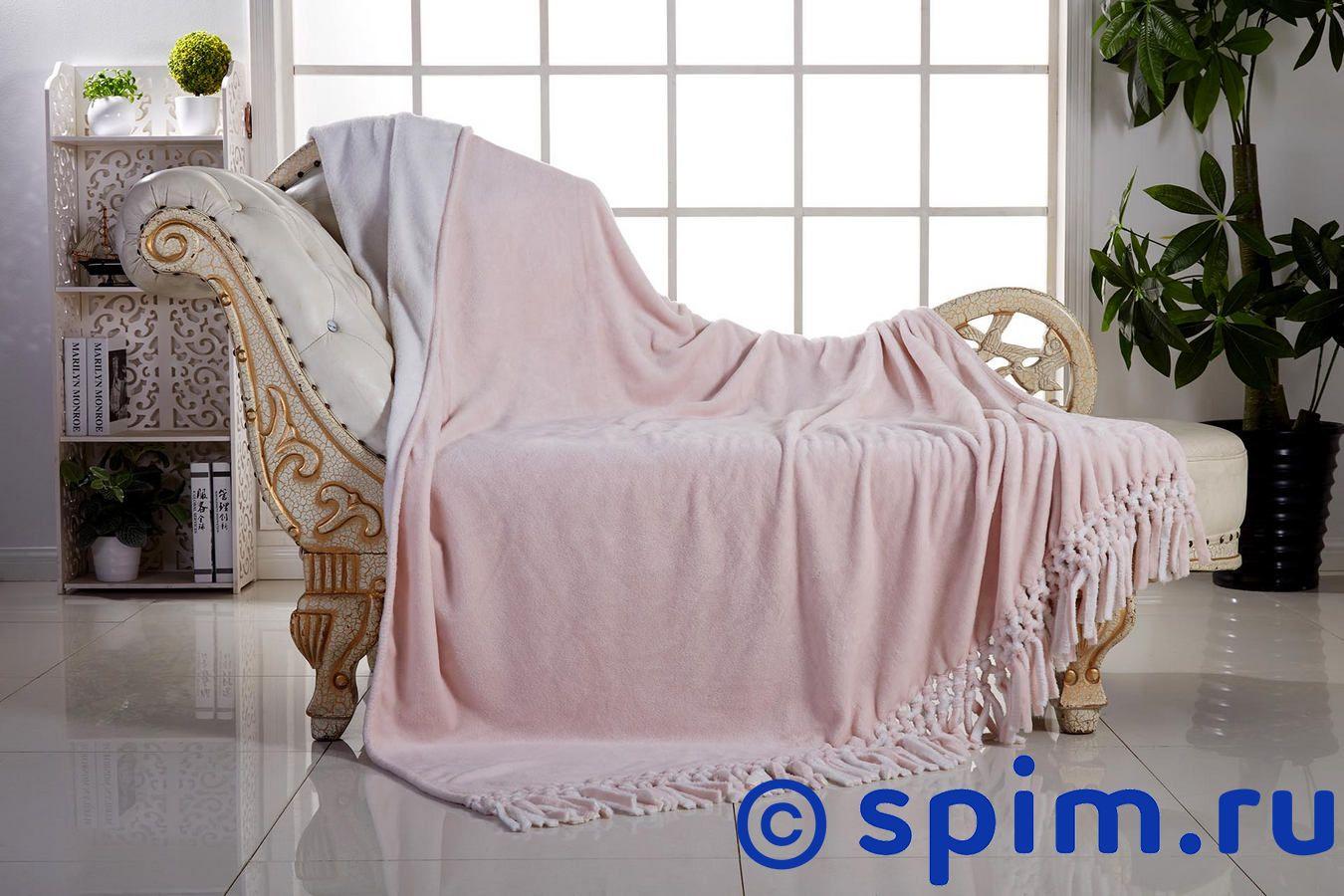 Плед Sofi De Marko Двухсторонний, розово-белый 160х220 см плед sofi de marko sofi de marko mp002xu0dzkv