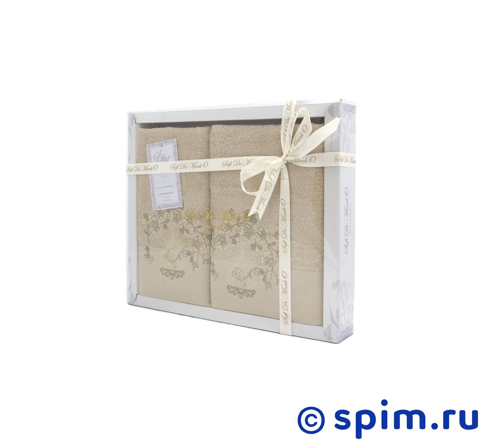 Набор из 2-х полотенец Sofi De Marko Flori, бежевый полотенце детское арти м набор из 2 полотенец для ванной 820 0