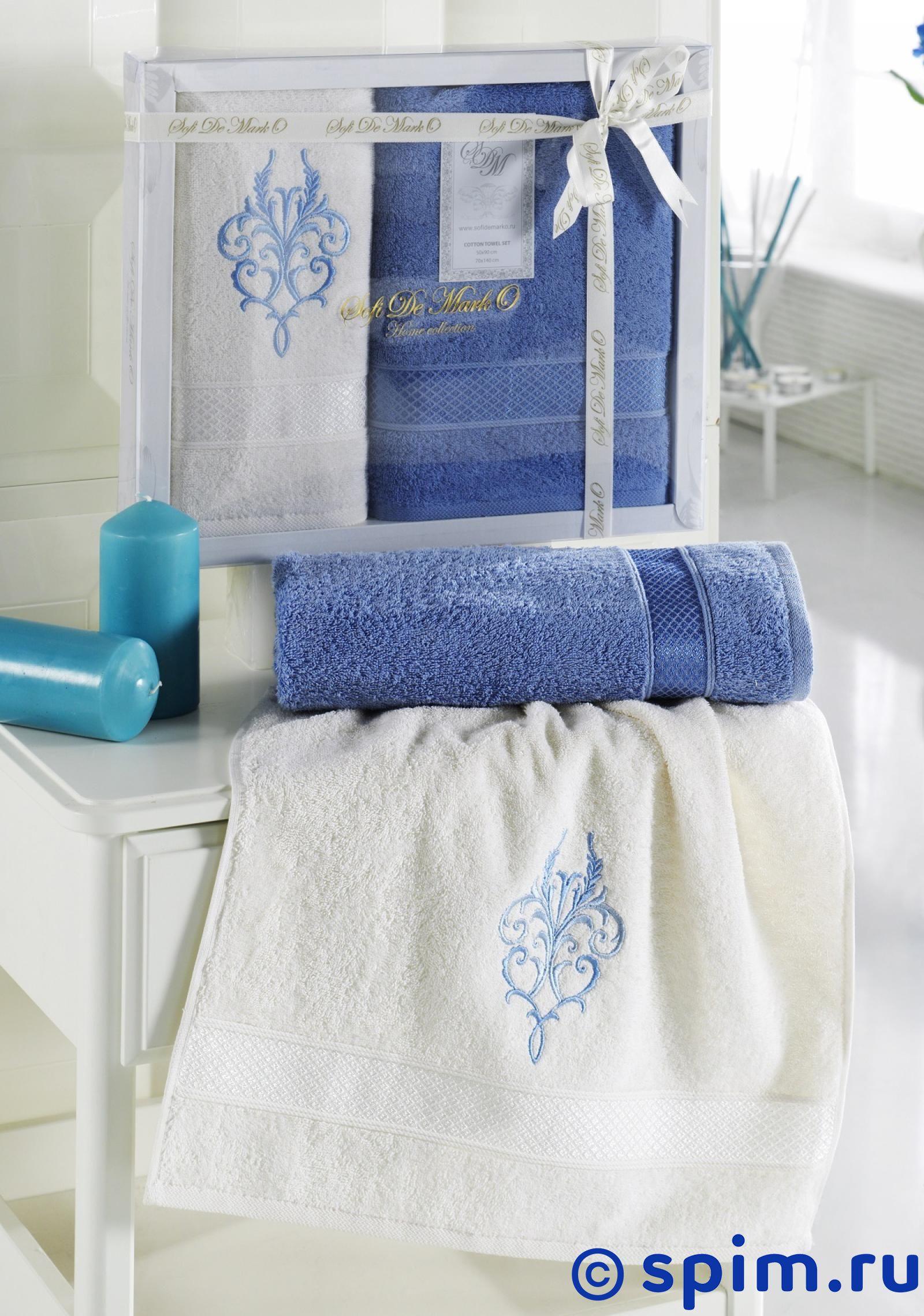 Набор из 2-х полотенец Sofi De Marko Logan, голубой полотенце детское арти м набор из 2 полотенец для ванной 820 0