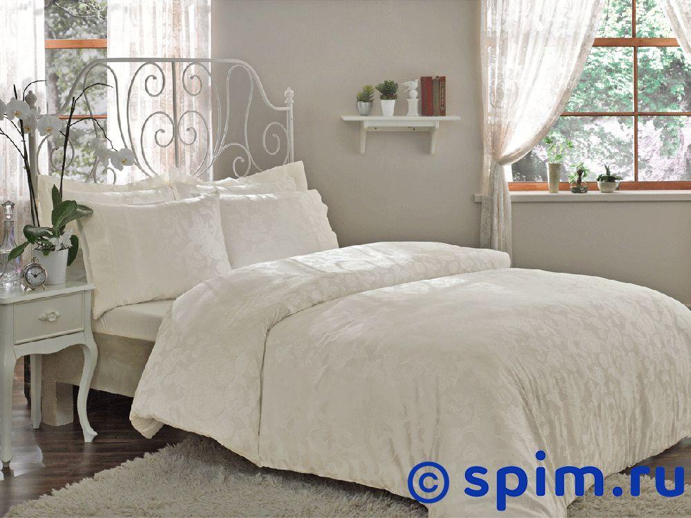 Купить Жаккардовое постельное белье Tivolio Amelfi, кремовое Евро-стандарт, Amelfi жаккард, кремовое, Tivolyo