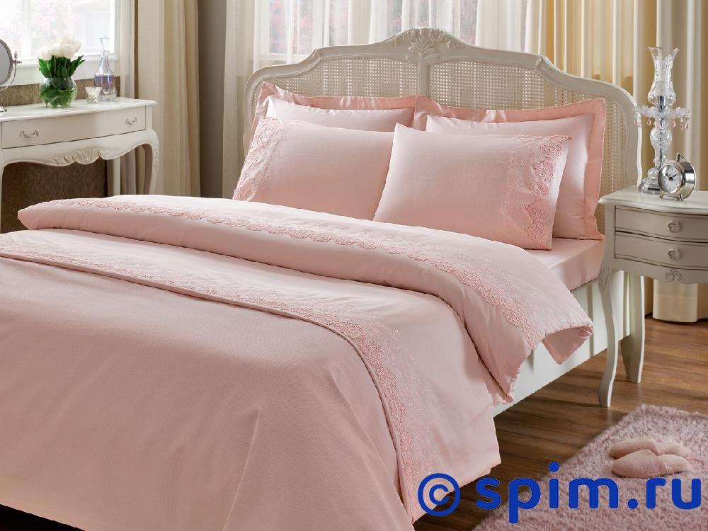 Постельное белье Tivolyo Nova Cift, розовый Евро-стандарт постельное белье tivolyo delux viola евро стандарт