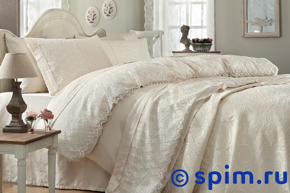 Постельное белье Gelin Home с покрывалом, Sevgi шампань Евро-стандарт