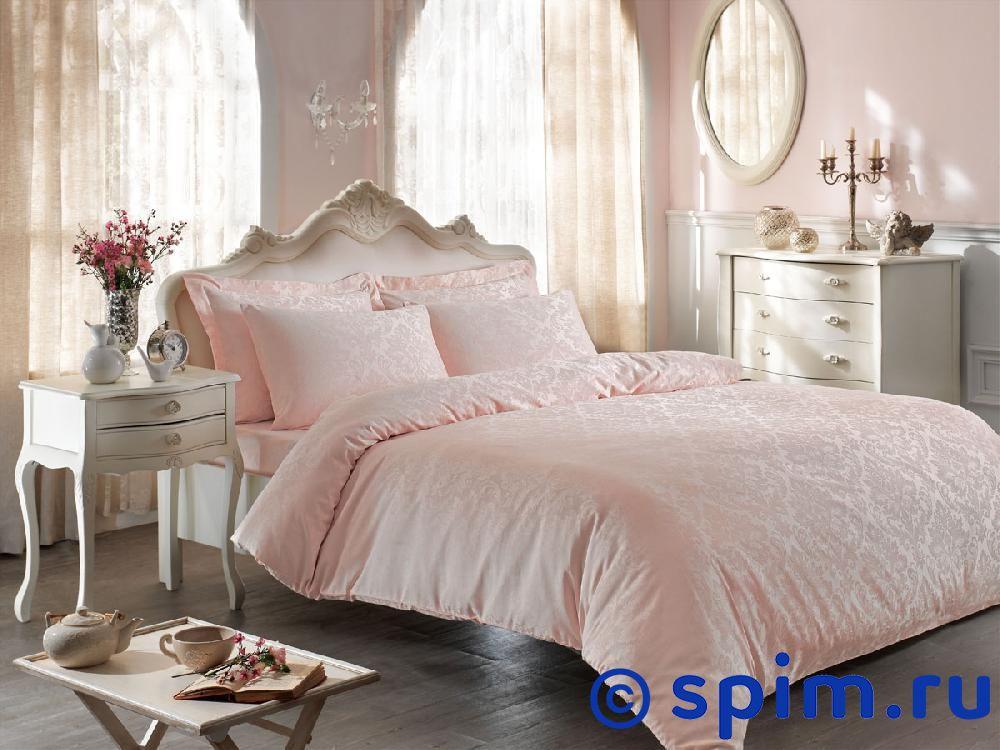 Купить Жаккардовое постельное белье Tivolio Bambura, розовое Евро-стандарт, Bambura жаккард, розовое, Tivolyo