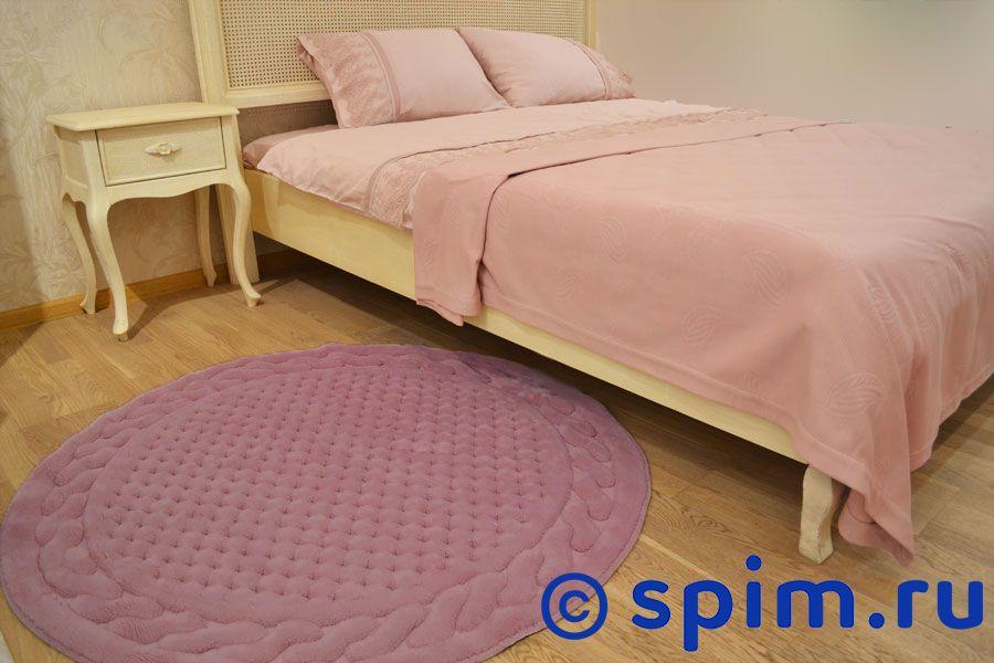 Коврик Gelin Home Erguvan круглый 120 см, тёмно-розовый