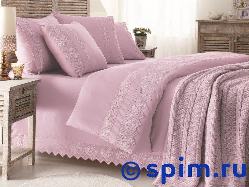 Постельное белье Gelin Home с пледом, Erguvan лиловый Евро-стандарт