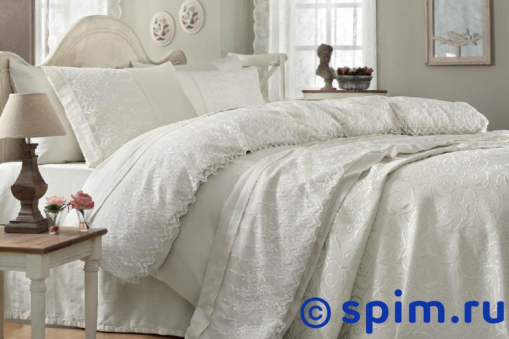 Постельное белье Gelin Home с покрывалом, Sevgi кремовый Евро-стандарт набор для спальни do and co ipek покрывало кпб евро полотенца кремовый 9021