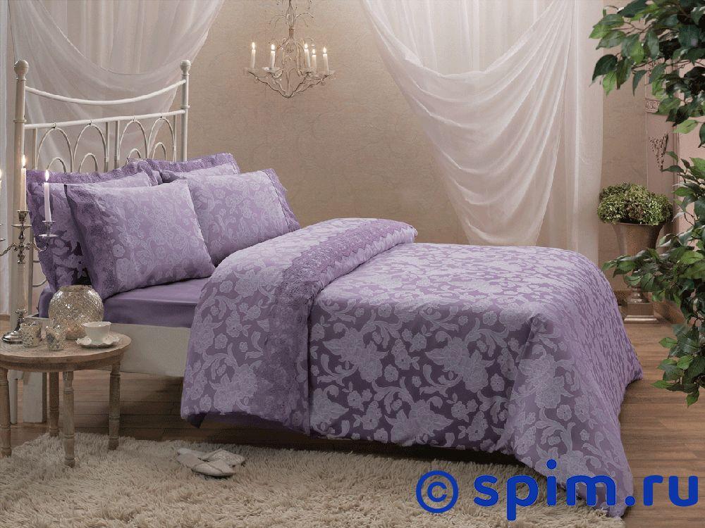 Купить Жаккардовое постельное белье Tivolio Amelfi, лиловое Евро-стандарт, Amelfi жаккард, лиловое, Tivolyo