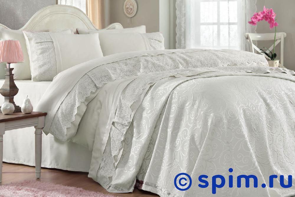 Постельное белье Gelin Home с покрывалом, Mine кремовый Евро-стандарт