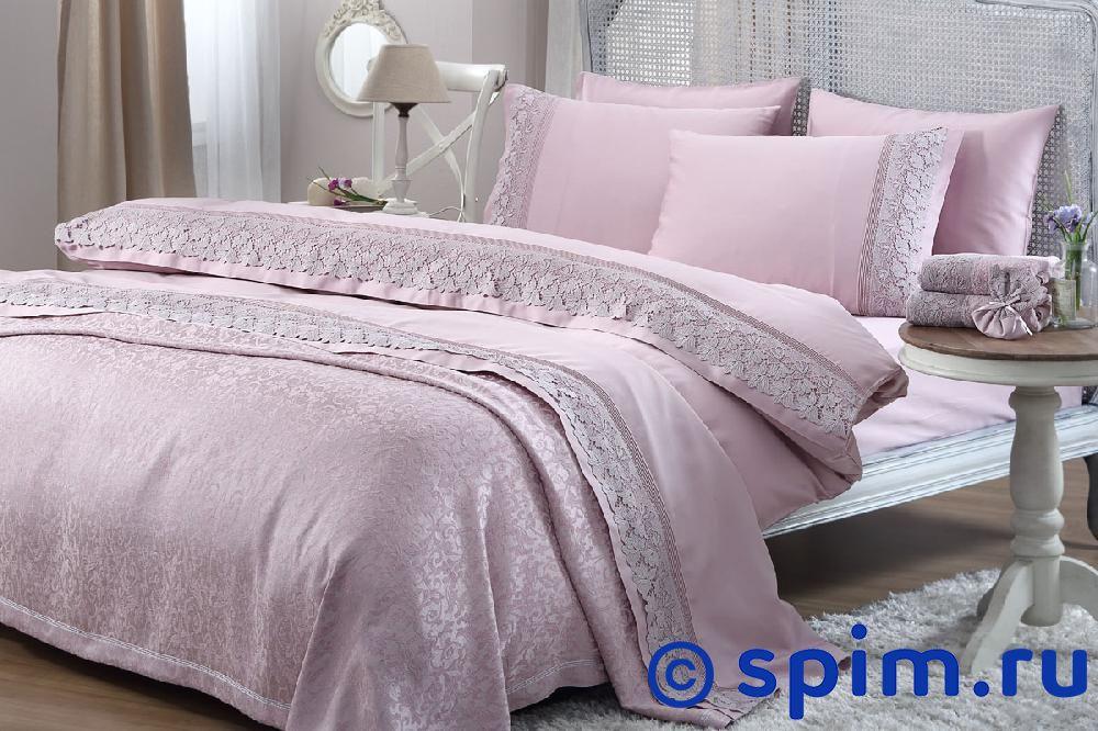 Постельное белье Gelin Home с покрывалом, Lilya лиловый Евро-стандарт
