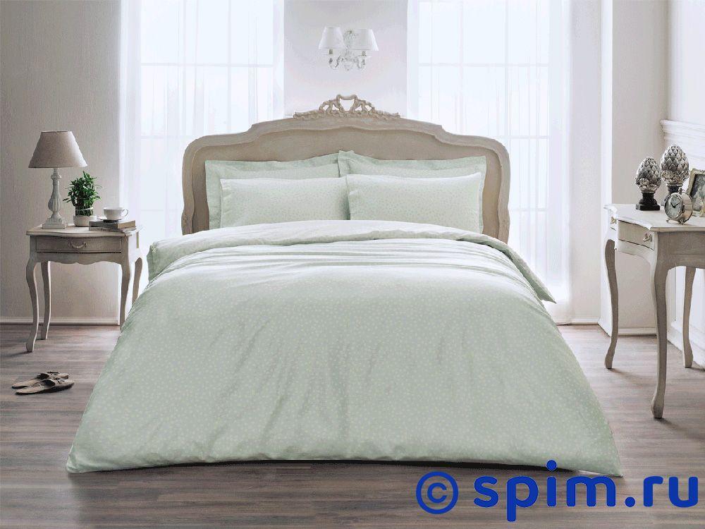 Постельное белье Tivolyo Delux Punto, зеленый Евро-стандарт постельное белье tivolyo delux viola евро стандарт