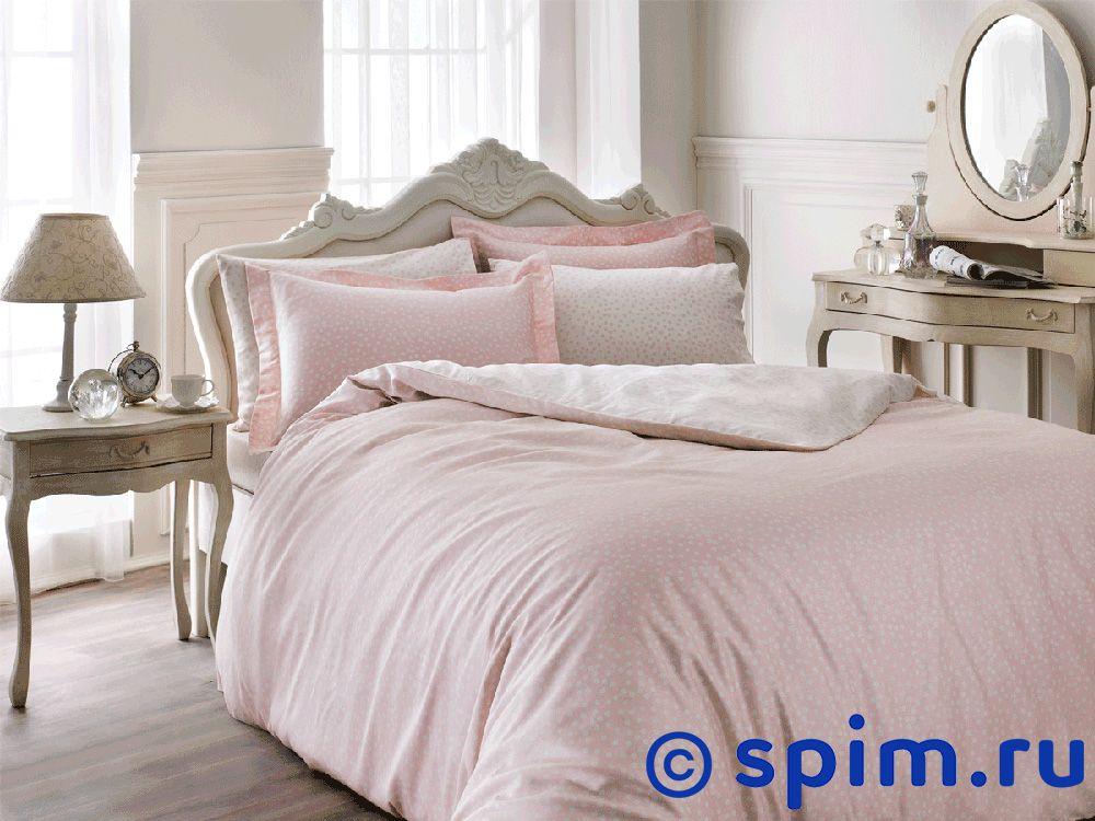 Постельное белье Tivolyo Delux Punto, розовый 1.5 спальное постельное белье tivolyo delux viola евро стандарт