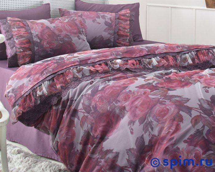Постельное белье Gelin Home с покрывалом, Ebru фиолетовый Евро-стандарт