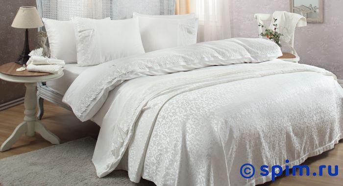 Постельное белье Gelin Home с покрывалом, Caroline кремовый Евро-стандарт