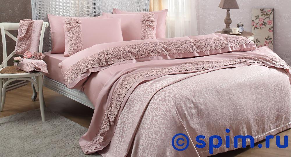 Постельное белье Gelin Home с покрывалом, Caroline шампань Евро-стандарт