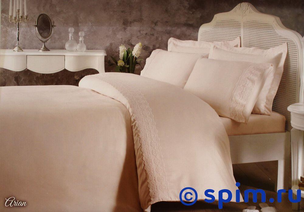 Постельное белье Tivolyo Delux Arian, розовый Евро-стандарт постельное белье tivolyo delux viola евро стандарт