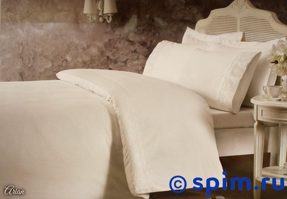 Постельное белье Tivolyo Delux Arian, кремовый Евро-стандарт постельное белье tivolyo delux viola евро стандарт
