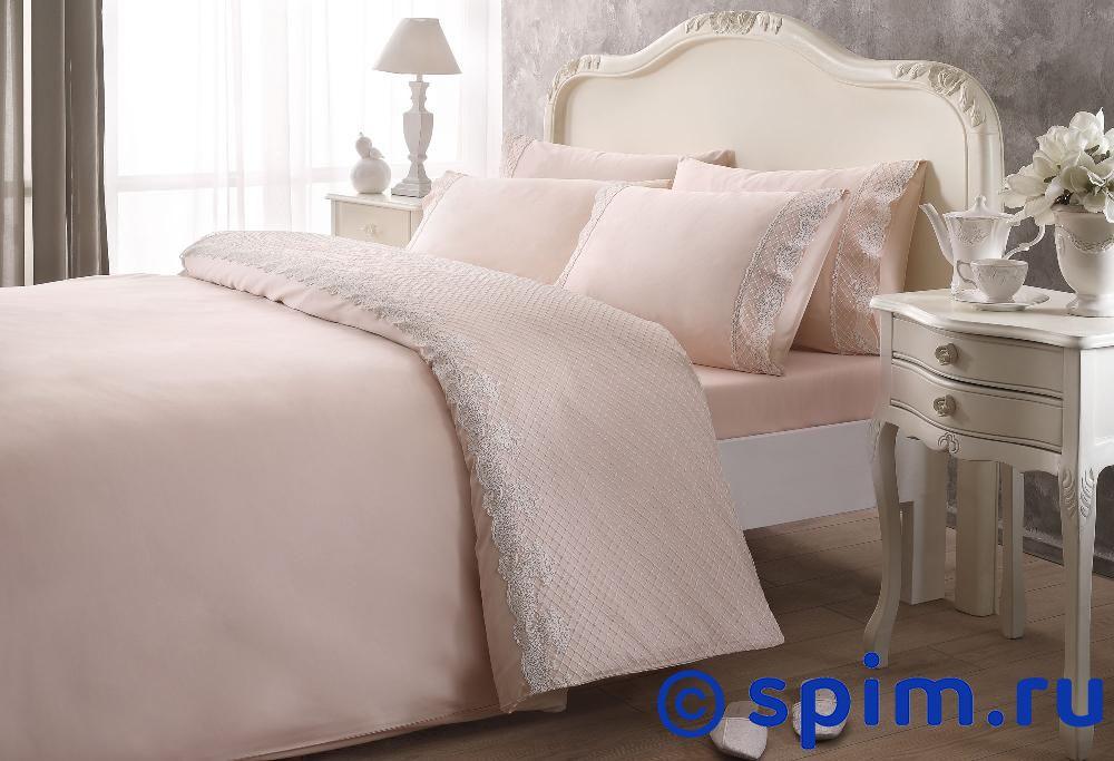 Постельное белье Tivolyo Delux Marlow, розовый Евро-стандарт постельное белье tivolyo delux viola евро стандарт