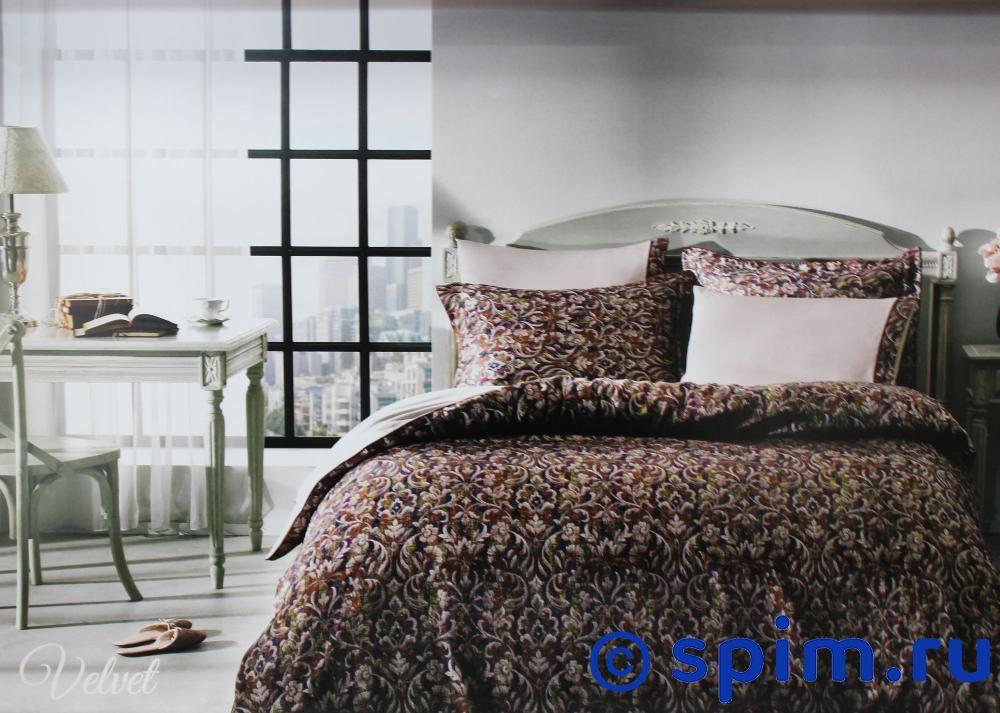 Постельное белье Tivolyo Velvet, бордовый Евро-стандарт постельное белье tivolyo delux viola евро стандарт